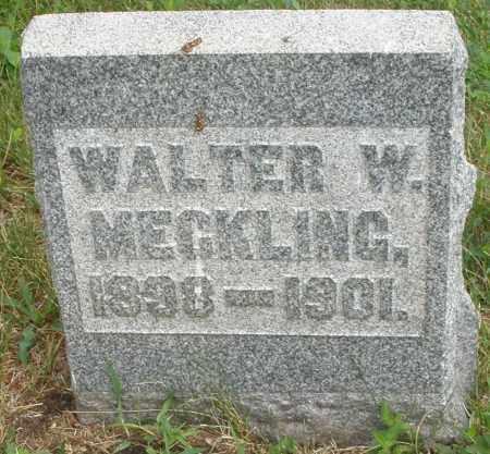 MECKLING, WALTER W. - Butler County, Ohio | WALTER W. MECKLING - Ohio Gravestone Photos