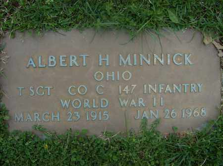 MINNICK, ALBERT H. - Butler County, Ohio | ALBERT H. MINNICK - Ohio Gravestone Photos