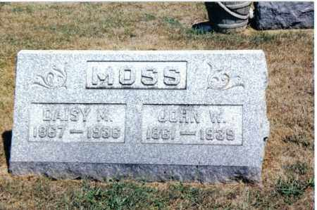 MOSS, JOHN W. - Butler County, Ohio | JOHN W. MOSS - Ohio Gravestone Photos