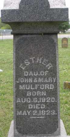 MULFORD, ESTHER - Butler County, Ohio | ESTHER MULFORD - Ohio Gravestone Photos