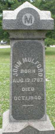 MULFORD, JOHN - Butler County, Ohio   JOHN MULFORD - Ohio Gravestone Photos
