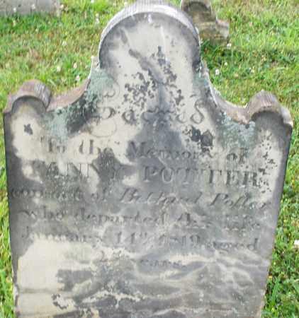 POTTER, FANNY - Butler County, Ohio | FANNY POTTER - Ohio Gravestone Photos