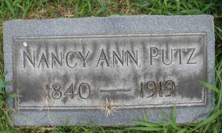 PUTZ, NANCY ANN - Butler County, Ohio | NANCY ANN PUTZ - Ohio Gravestone Photos