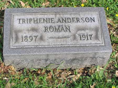ANDERSON ROMAN, TRIPHENIE - Butler County, Ohio   TRIPHENIE ANDERSON ROMAN - Ohio Gravestone Photos