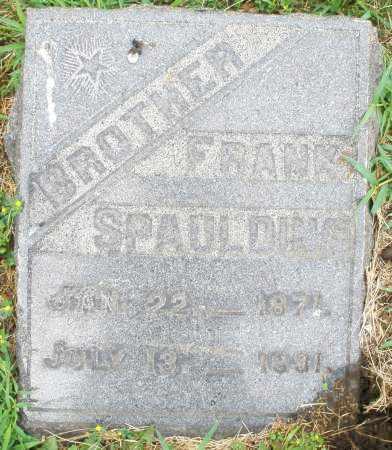 SPAULDING, FRANK - Butler County, Ohio | FRANK SPAULDING - Ohio Gravestone Photos