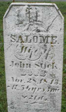 STICK, SALOME - Butler County, Ohio | SALOME STICK - Ohio Gravestone Photos