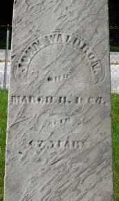 WALDRON, JOHN - Butler County, Ohio | JOHN WALDRON - Ohio Gravestone Photos
