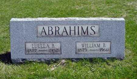 ABRAHIMS, WILLIAM B. - Carroll County, Ohio   WILLIAM B. ABRAHIMS - Ohio Gravestone Photos