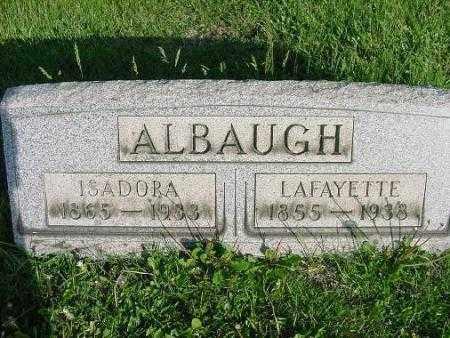 ALBAUGH, LAFAYETTE - Carroll County, Ohio | LAFAYETTE ALBAUGH - Ohio Gravestone Photos