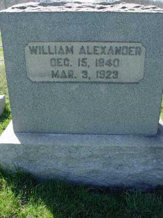 ALEXANDER, WILLIAM - Carroll County, Ohio | WILLIAM ALEXANDER - Ohio Gravestone Photos