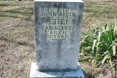 ALGEO, JOHN - Carroll County, Ohio | JOHN ALGEO - Ohio Gravestone Photos