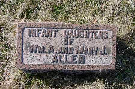 ALLEN, INFANT DAUGHTERS - Carroll County, Ohio | INFANT DAUGHTERS ALLEN - Ohio Gravestone Photos