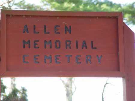 ALLEN MEMORIAL CEMETERY, SIGN - Carroll County, Ohio | SIGN ALLEN MEMORIAL CEMETERY - Ohio Gravestone Photos