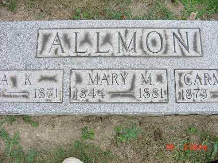 ALLMON, MARY M. - Carroll County, Ohio | MARY M. ALLMON - Ohio Gravestone Photos
