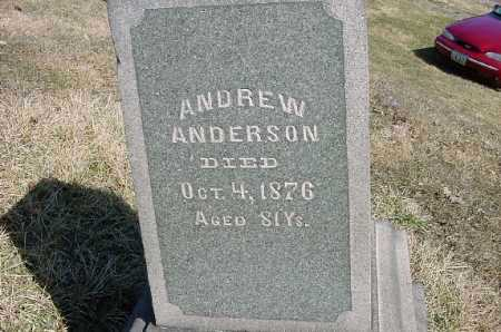 ANDERSON, ANDREW - Carroll County, Ohio | ANDREW ANDERSON - Ohio Gravestone Photos