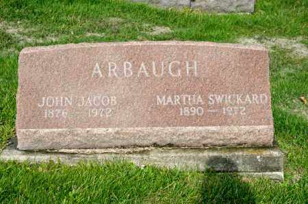 ARBAUGH, MARTHA - Carroll County, Ohio | MARTHA ARBAUGH - Ohio Gravestone Photos