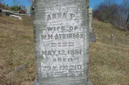 ATKINSON, ANNA P. - Carroll County, Ohio   ANNA P. ATKINSON - Ohio Gravestone Photos