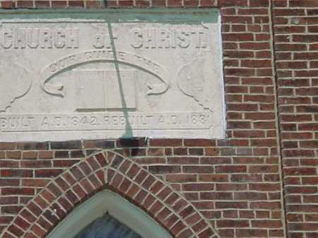 AUGUST CHURCH, FRONT - CLOSEVIEW - Carroll County, Ohio   FRONT - CLOSEVIEW AUGUST CHURCH - Ohio Gravestone Photos