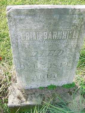 BARNHILL, URIAH - Carroll County, Ohio | URIAH BARNHILL - Ohio Gravestone Photos