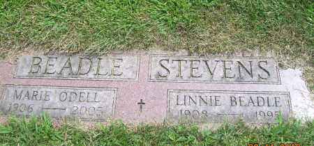 BEADLE STEVENS, LINNIE - Carroll County, Ohio | LINNIE BEADLE STEVENS - Ohio Gravestone Photos