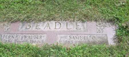 WALTER BEADLE, FERN HAZEL - Carroll County, Ohio | FERN HAZEL WALTER BEADLE - Ohio Gravestone Photos