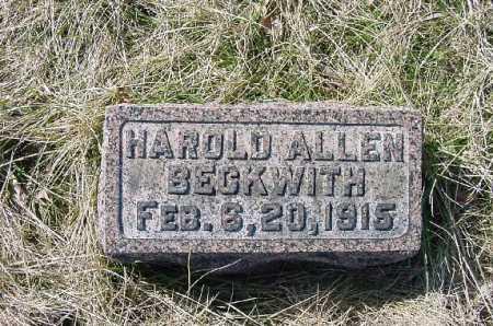 BECKWITH, HAROLD ALLEN - Carroll County, Ohio | HAROLD ALLEN BECKWITH - Ohio Gravestone Photos