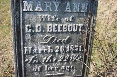 BEEBOUT, MARY ANN - Carroll County, Ohio | MARY ANN BEEBOUT - Ohio Gravestone Photos