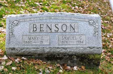 BENSON, MARY E. - Carroll County, Ohio | MARY E. BENSON - Ohio Gravestone Photos