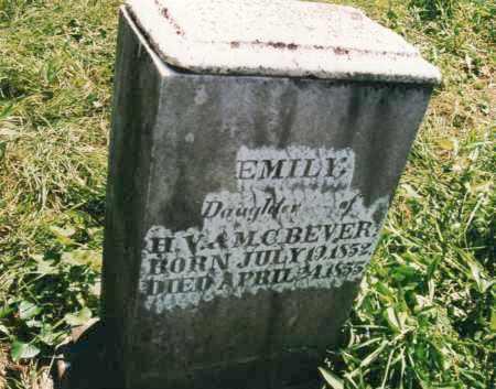BEVER, EMILY - Carroll County, Ohio   EMILY BEVER - Ohio Gravestone Photos