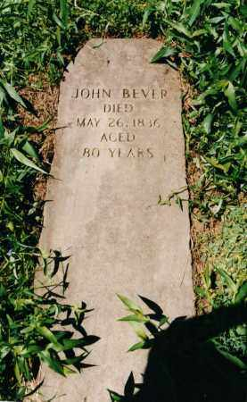 BEVER, JOHN - Carroll County, Ohio | JOHN BEVER - Ohio Gravestone Photos