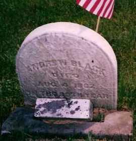 BLACK, ANDREW - Carroll County, Ohio   ANDREW BLACK - Ohio Gravestone Photos
