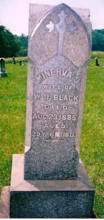 LOGAN BLACK, MINERVA J. - Carroll County, Ohio | MINERVA J. LOGAN BLACK - Ohio Gravestone Photos