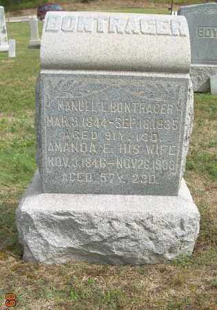 BONTRAGER, AMANDA E - Carroll County, Ohio   AMANDA E BONTRAGER - Ohio Gravestone Photos