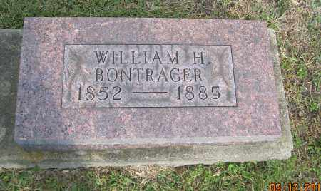BONTRAGER, WILLIAM H - Carroll County, Ohio | WILLIAM H BONTRAGER - Ohio Gravestone Photos