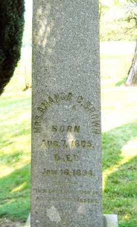 BROWN, AMANDA - Carroll County, Ohio | AMANDA BROWN - Ohio Gravestone Photos