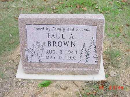 BROWN, PAUL A. - Carroll County, Ohio | PAUL A. BROWN - Ohio Gravestone Photos