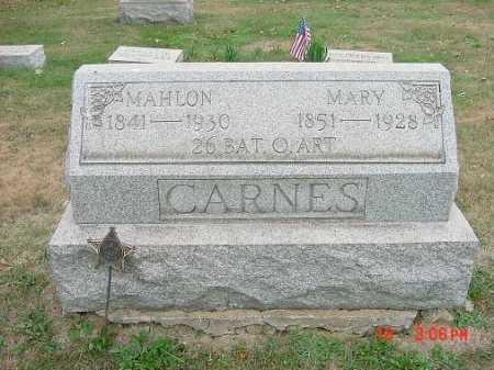 CARNES, MAHLON - Carroll County, Ohio | MAHLON CARNES - Ohio Gravestone Photos