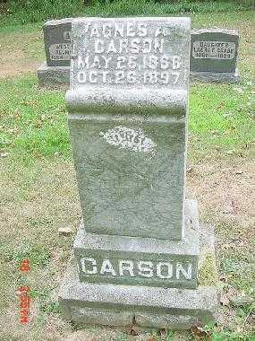 CARSON, AGNES A. MONUMENT - Carroll County, Ohio   AGNES A. MONUMENT CARSON - Ohio Gravestone Photos