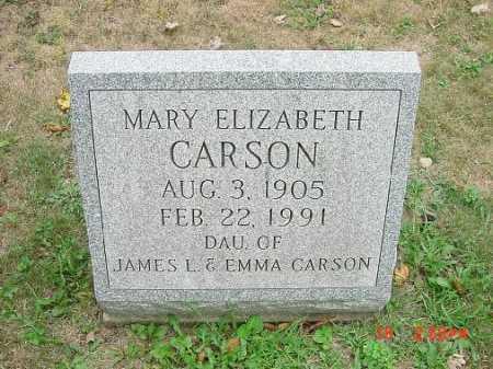 CARSON, MARY ELIZABETH - Carroll County, Ohio | MARY ELIZABETH CARSON - Ohio Gravestone Photos