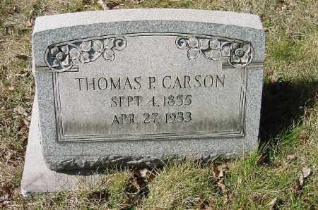 CARSON, THOMAS P. - Carroll County, Ohio | THOMAS P. CARSON - Ohio Gravestone Photos