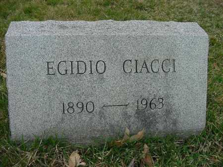 CIACCI, EGIDIO - Carroll County, Ohio   EGIDIO CIACCI - Ohio Gravestone Photos