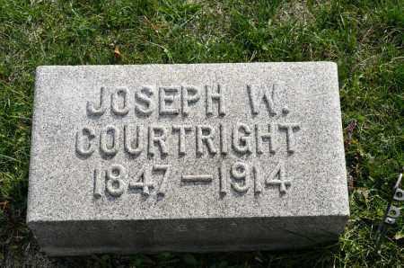 COURTRIGHT, JOSEPH W. - Carroll County, Ohio | JOSEPH W. COURTRIGHT - Ohio Gravestone Photos