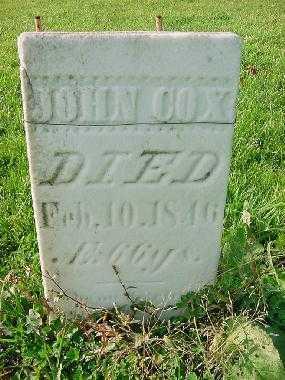 COX, JOHN - Carroll County, Ohio | JOHN COX - Ohio Gravestone Photos