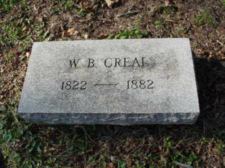 CREAL, W. B. - Carroll County, Ohio | W. B. CREAL - Ohio Gravestone Photos