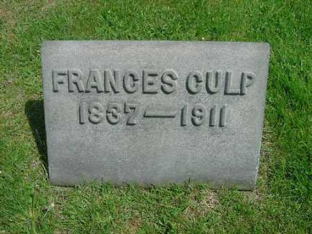 CULP, FRANCES - Carroll County, Ohio   FRANCES CULP - Ohio Gravestone Photos