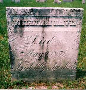 DAVIS, WILLIAM - Carroll County, Ohio | WILLIAM DAVIS - Ohio Gravestone Photos