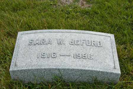DEFORD, SARA W. - Carroll County, Ohio | SARA W. DEFORD - Ohio Gravestone Photos