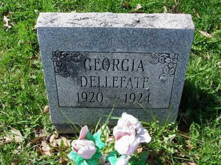 DELLEFATE, GEORGIA - Carroll County, Ohio | GEORGIA DELLEFATE - Ohio Gravestone Photos