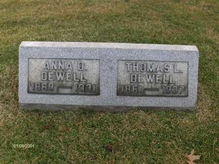 DEWELL, ANNA DORA - Carroll County, Ohio | ANNA DORA DEWELL - Ohio Gravestone Photos