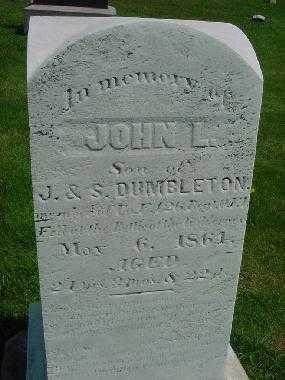 DUMBLETON, JOHN L. - Carroll County, Ohio   JOHN L. DUMBLETON - Ohio Gravestone Photos